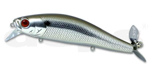 Deps Spiral Minnow-Chrome Black Back