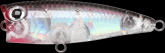 Lucky Craft Bevy Popper color-5470-CF Bait Fish Silver