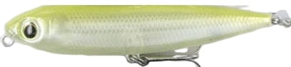 Topwater Lure Cultiva Zip'n Ziggy Color Ivory Chartreuse-12